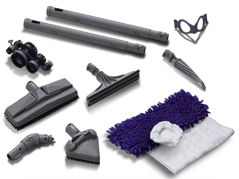 Les accessoires du nettoyeur vapeur Domena